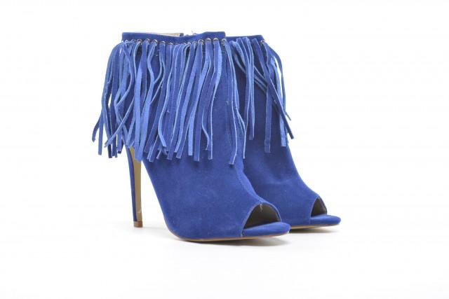 botine franjuri lanov albastre
