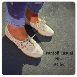 Pantofi dantela talpa joasa Nisa Bej
