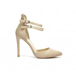 Sandale piele perforata Kat Bej