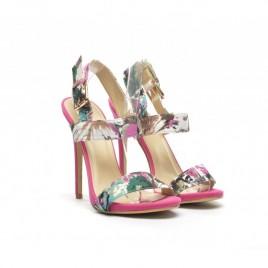 Sandale imprimeu floral Pamo Roz
