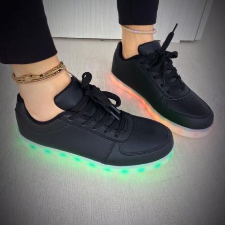 pantofi sport negri cu leduri