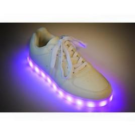 pantofi sport leduri albi depurtat
