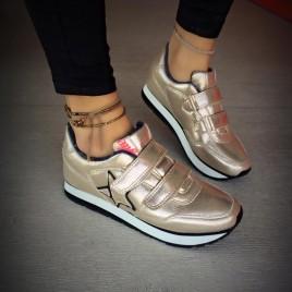 pantofi sport bastet aurii metalizati