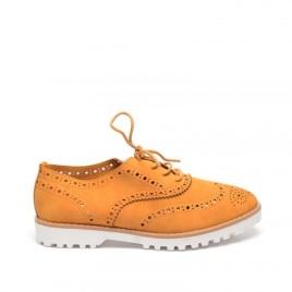 pantofi dama oxford cu siret delta camel