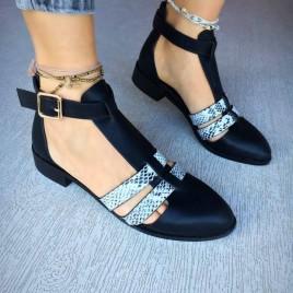 pantofi casual bedea negri