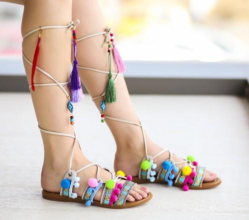 Sandale Gato Albe