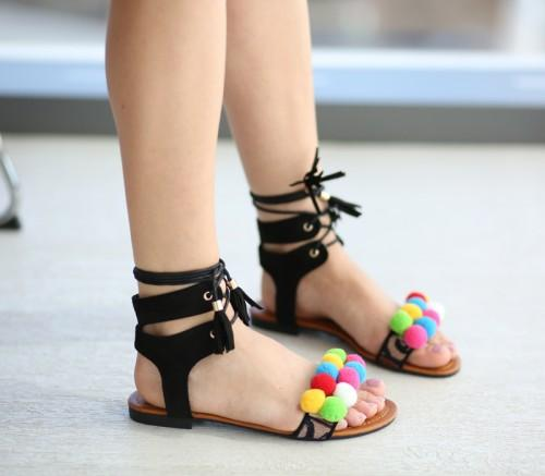 Sandale Polo Negre
