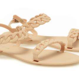 Sandale Epica nude, bareta impletita