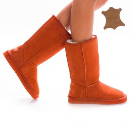 Cizme tip UGG Daria Orange 1