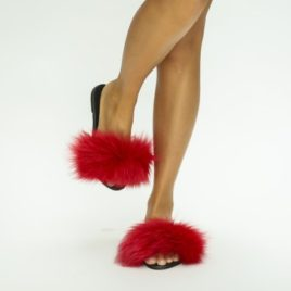 Papuci Puf Rosii