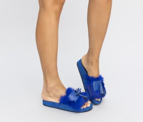 Papuci Pufino Albastri 1