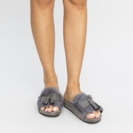 Papuci Pufino Gri