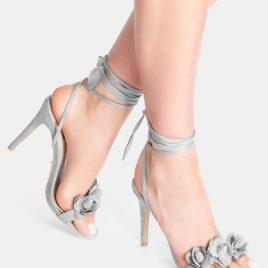 Sandale cu toc Leilani Gri