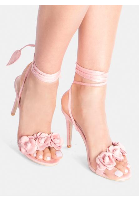 Sandale cu toc  Leilani Roz 1