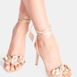 Sandale cu toc Leilani Bej