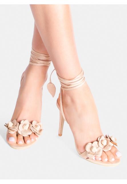 Sandale cu toc Leilani Bej 1