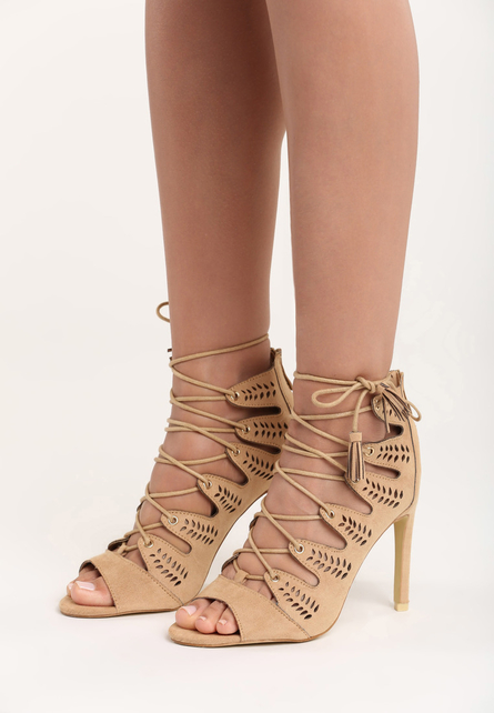 Sandale cu toc Evelyn Bej 1