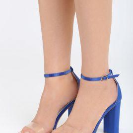 Sandale cu toc Muneque Albastre