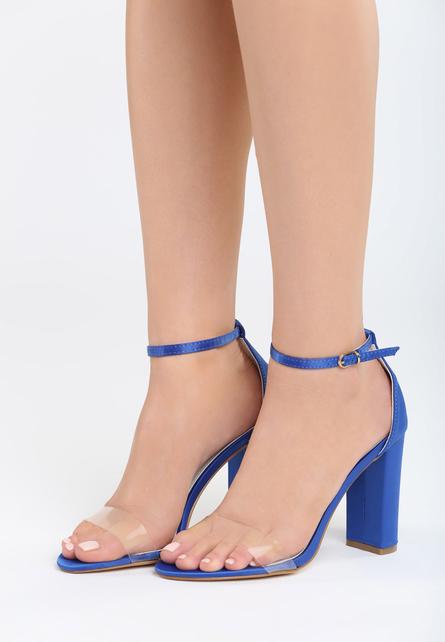 Sandale cu toc Muneque Albastre 1