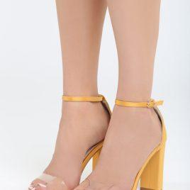 Sandale cu toc Muneque Galbene