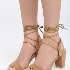 Sandale cu snur pe picior Acacia Bej
