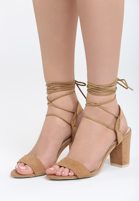 Sandale cu snur pe picior Acacia Bej 1