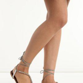 Sandale joase Karine Argintii