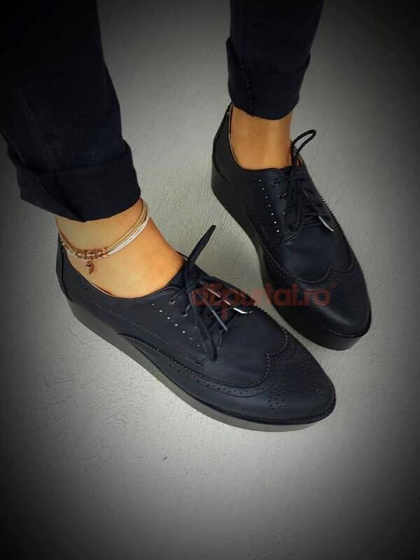 pantofi sport negri daria talpa inalta
