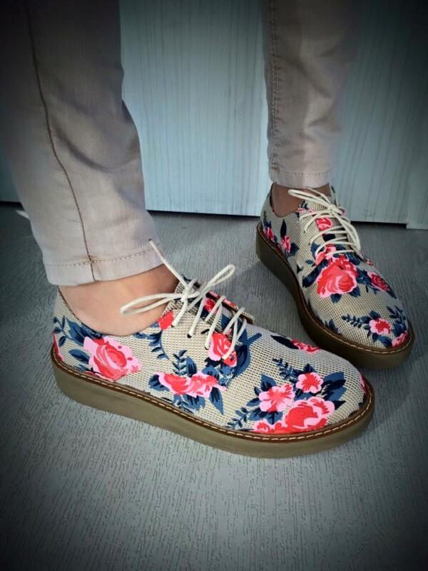 pantofi oxford jumin imprimeu floral