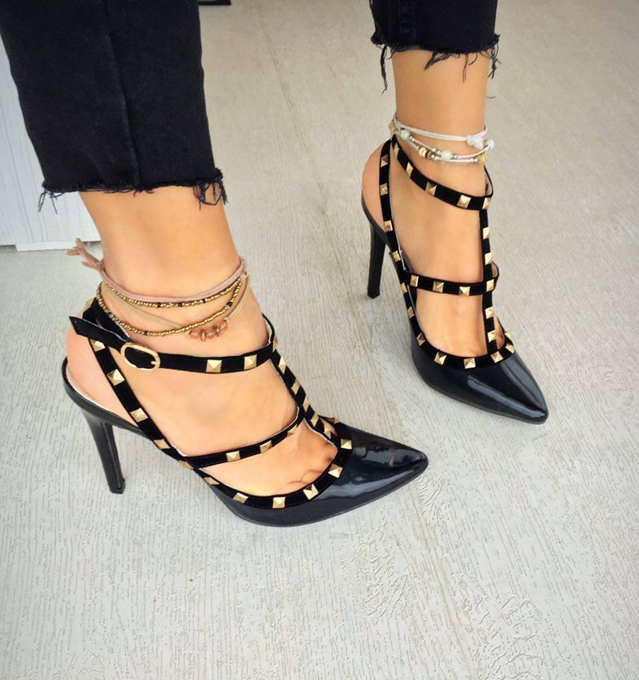 sandale lora negre