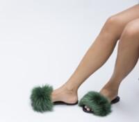 Papuci Puf Verzi