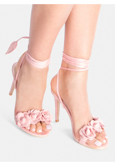Sandale cu toc  Leilani Roz