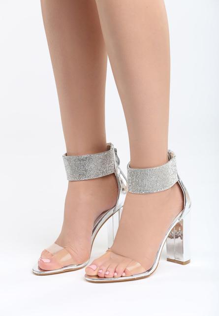 Sandale elegante Amapa Argintii