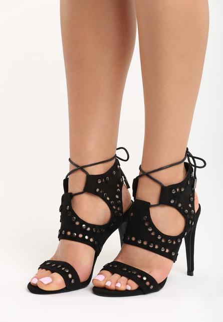 Sandale cu toc Kendall Negre
