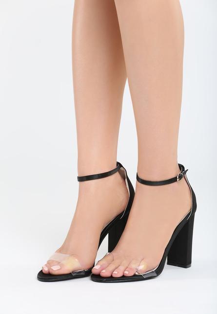 Sandale cu toc Muneque Negre