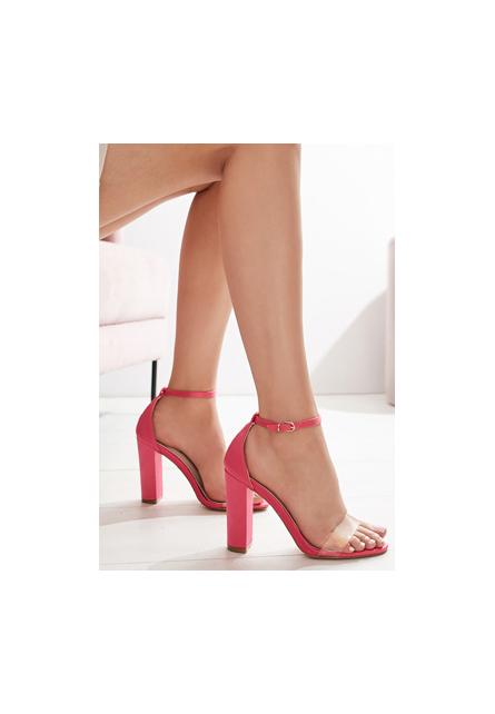 Sandale cu toc Muneque Fucsia
