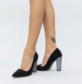 Pantofi Mable Argintii