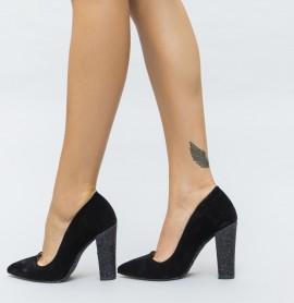 Pantofi Mable Negri
