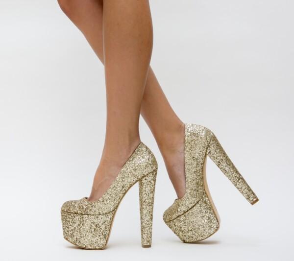 Pantofi Zenovia Aurii