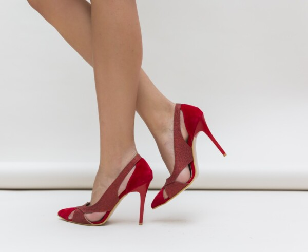 Pantofi Janin Rosii