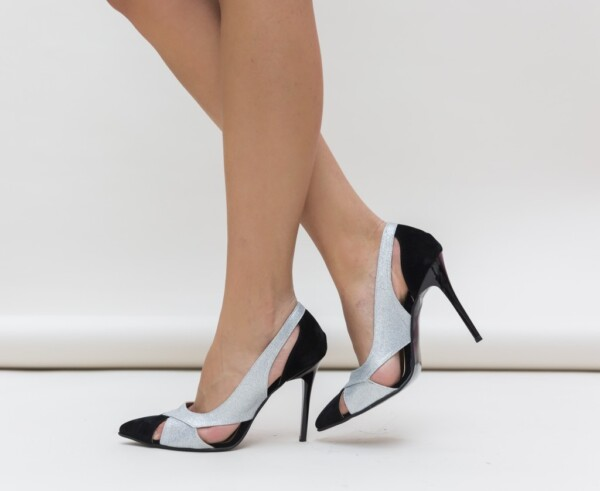 Pantofi Janin Argintii