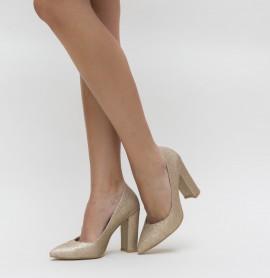 Pantofi Etno Aurii