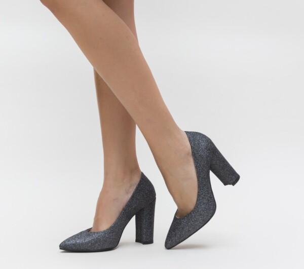 Pantofi Etno Gri
