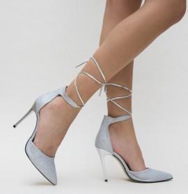 Pantofi Pasio Argintii