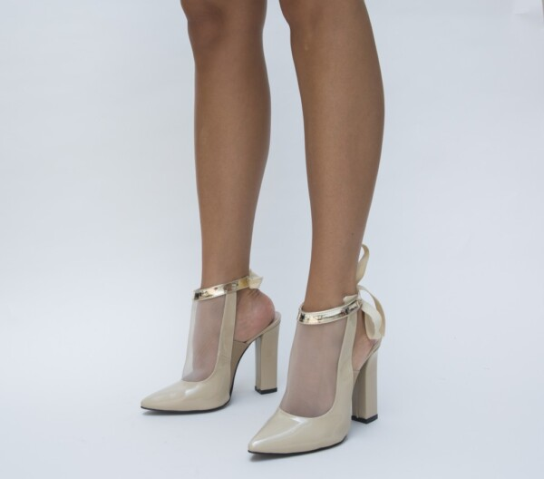 Pantofi Paris Bej