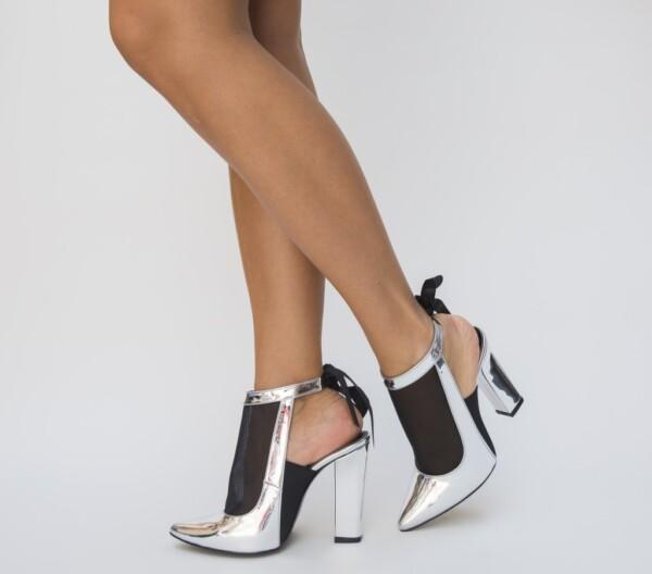 Pantofi Paris Argintii