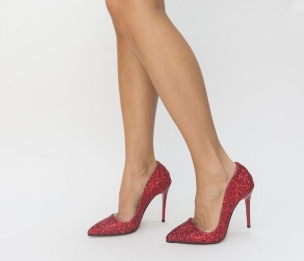 Pantofi City Rosii 3