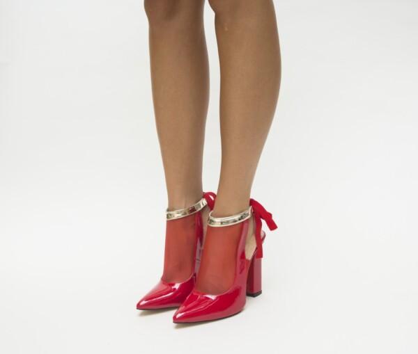Pantofi Paris Rosii