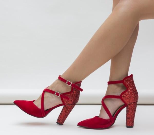 Pantofi Wils Rosii