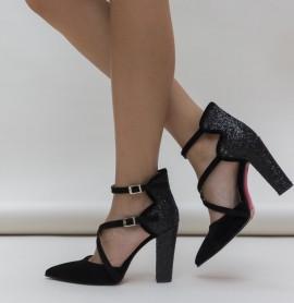 Pantofi Wils Negri